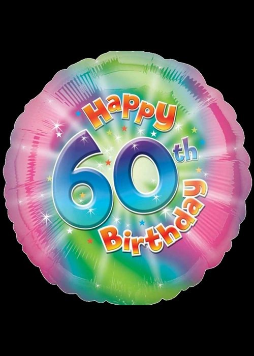 60th Birthday - Helium
