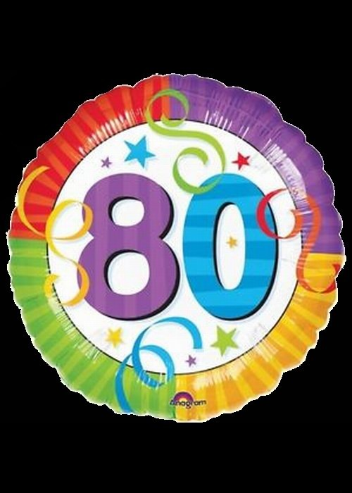 80th Birthday - Helium