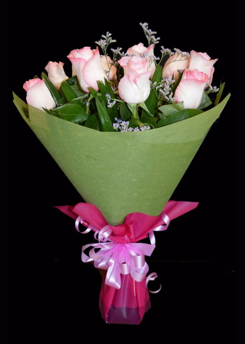 Bouquet of Soft Pink Roses